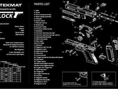 TekMat Gun Cleaning Armorers Bench Mat with Parts Diagram
